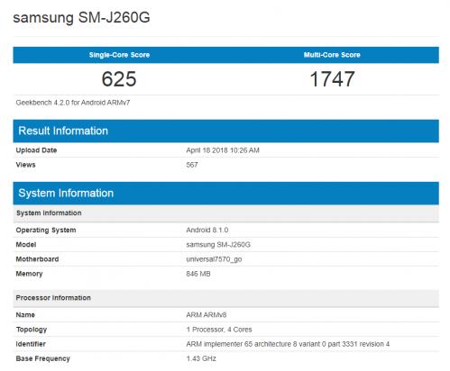 三星首款Android Go手机曝光:1GB内存+四核芯片