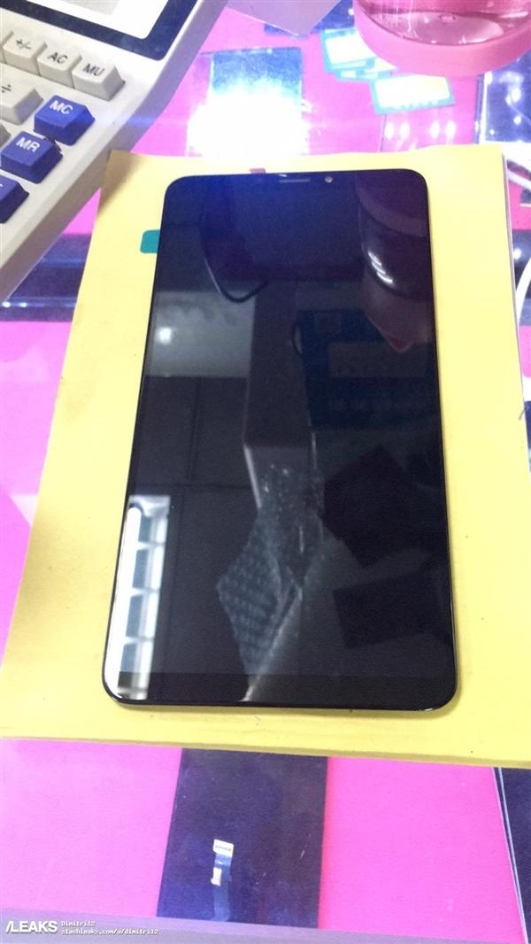 小米平板4看呆!小米Max 3前面板曝光:无刘海全面屏、屏占比提升