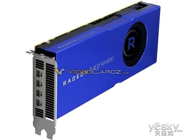 AMD专业图形卡Radeon Pro WX8200亮相