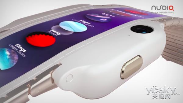 未来新方案?努比亚发布首款腕部曲面手机