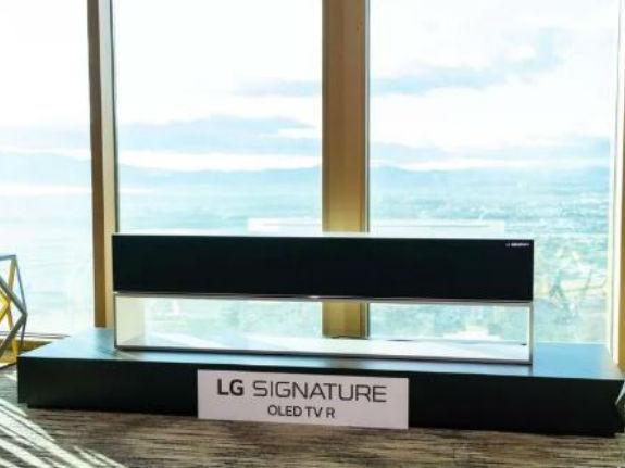 还记的LG推出的卷帘电视吗?或许你今年就有机会买到它