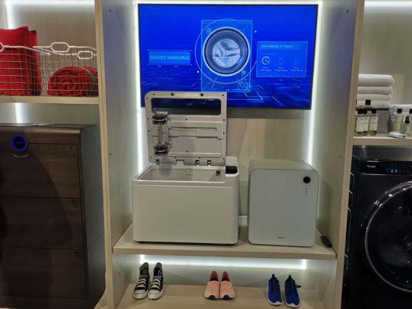 只需拍照就能一键洗鞋,海尔衣联网智能洗鞋机登陆CES2019
