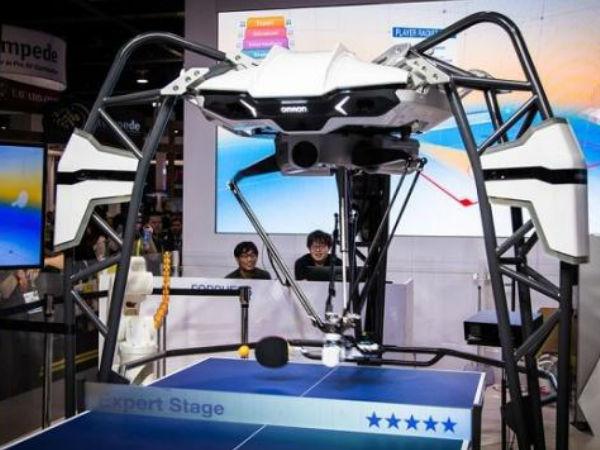 CES2019:与机器人来一场乒乓对决,欧姆龙带来乒乓球机器人