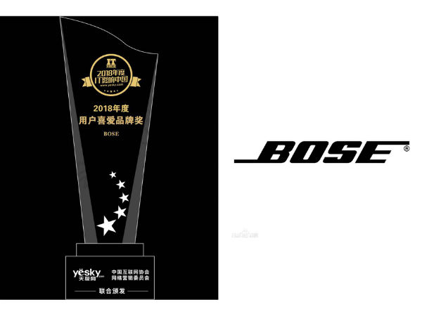BOSE斩获IT影响中国用户喜爱品牌奖