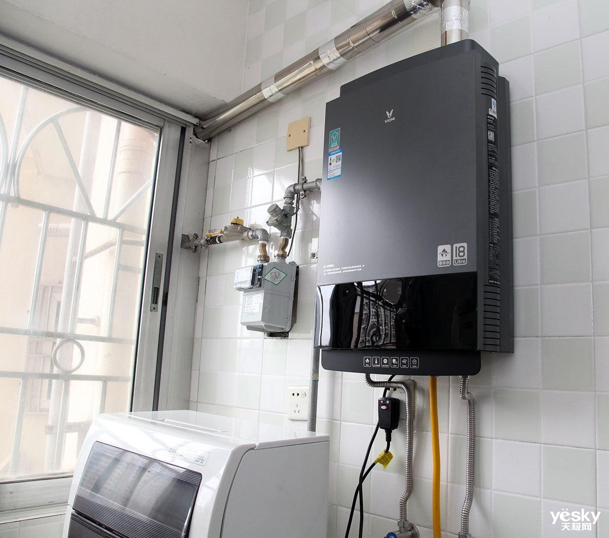 热水器安装在厨房,已接通燃气管图片
