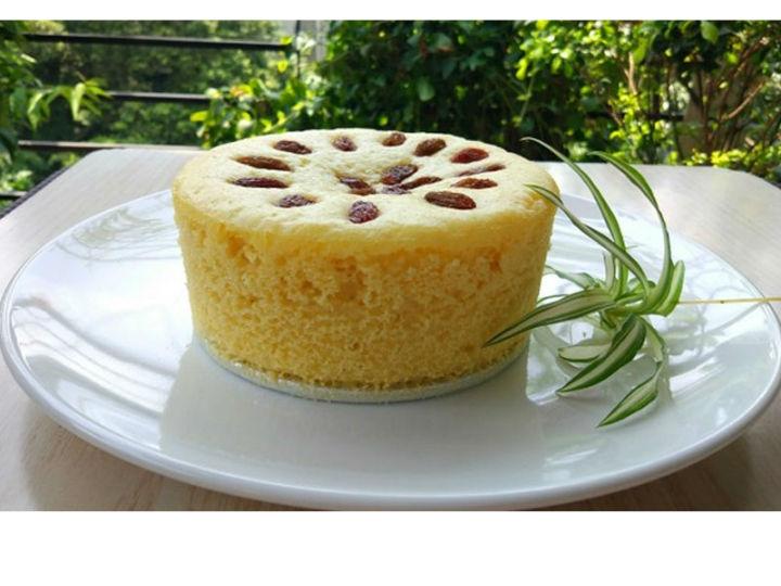 极客美食:香糯可口―打蛋器版网红玉米面发糕