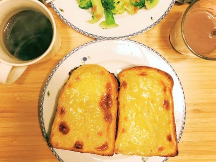 �O客美食:甜美早餐―�烤箱版�r��乳酪土司