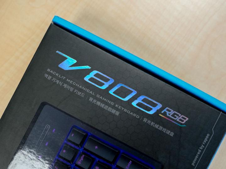 雷柏V808RGB幻彩背光游��C械�I�P�u�y