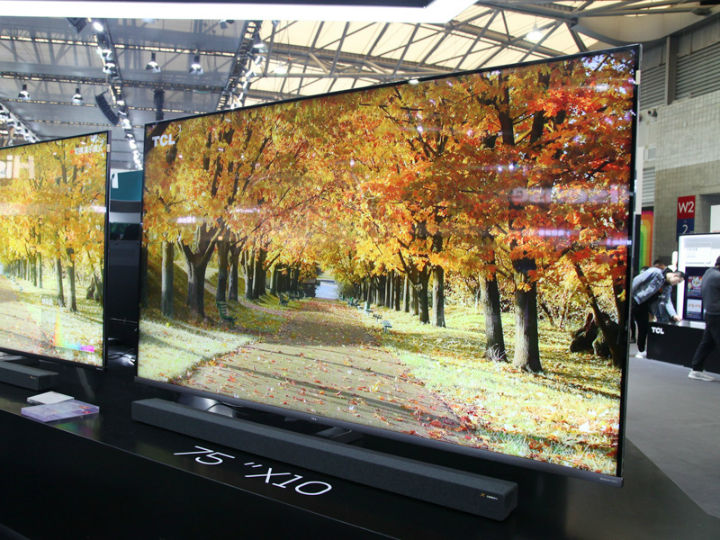 TCL旗舰新品75吋X10 QLED 8K TV惊艳AWE2019