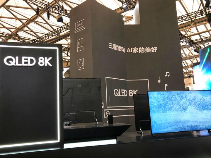 8K和4K差不多?那是你没看到三星在AWE2109展出的8K电视