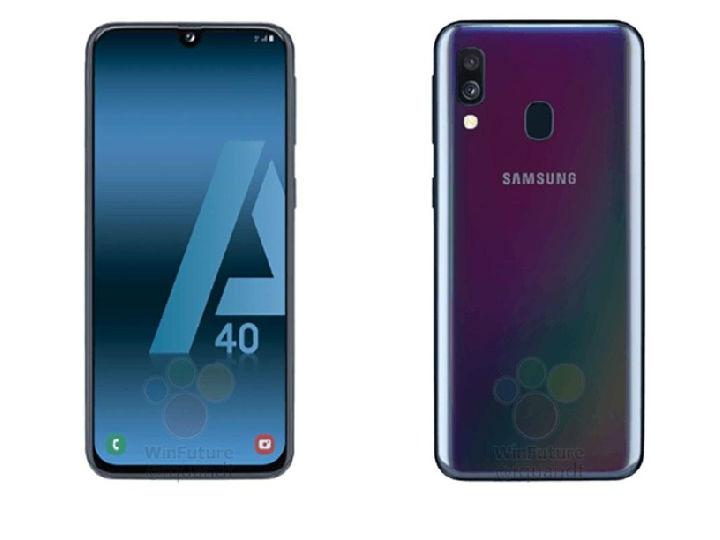 三星Galaxy A40渲染图曝光 水滴屏+渐变色