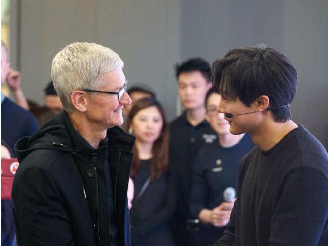 苹果CEO库克晒今天中国行程:去北京故宫参观等