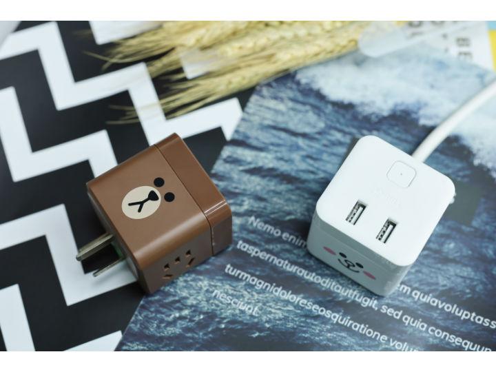 公牛LINE FRIENDS小魔方USB插座:我萌我可爱!