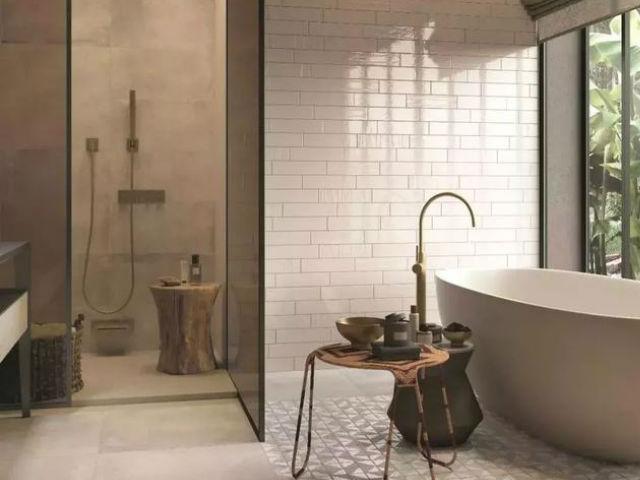 卫浴间的设计让空间私密又充满治愈感!