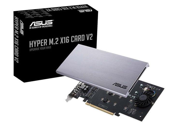 华硕发售新版Hyper M.2 x16 V2 NVMe RAID卡