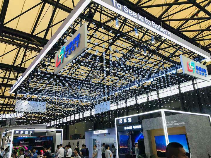 UDE2019:华星光电展示玻璃背板、百万分区背光技术