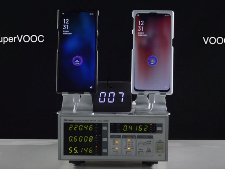 OPPO公开65W超级闪充充电速度:25分钟充满4000mAh电池