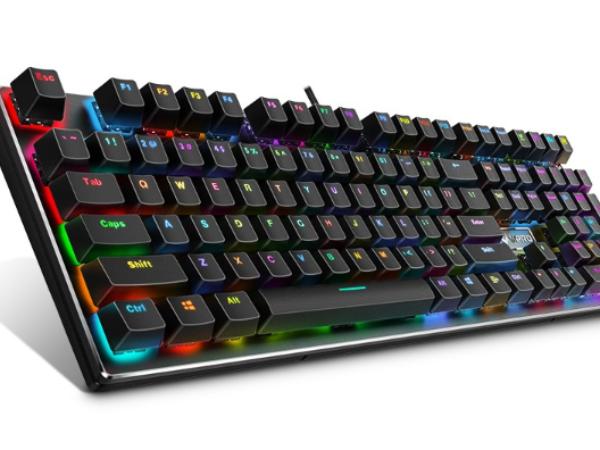 居家劳逸结合雷柏V700RGB合金版幻彩背光游戏机械键盘