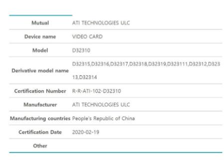 AMD注册新显卡:光追的大核心最快下月到来
