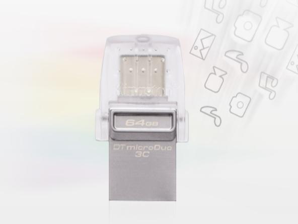 双接口更方便 金士顿DTDUO3C U盘64GB售价109元