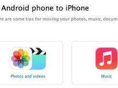 苹果发文件详细指导安卓手机数据移至iPhone