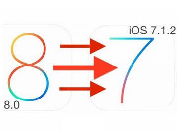 苹果移动设备升级到iOS8后如何降至iOS7.1.2