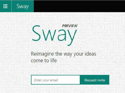 微软Office新成员 图文混排工具Office Sway