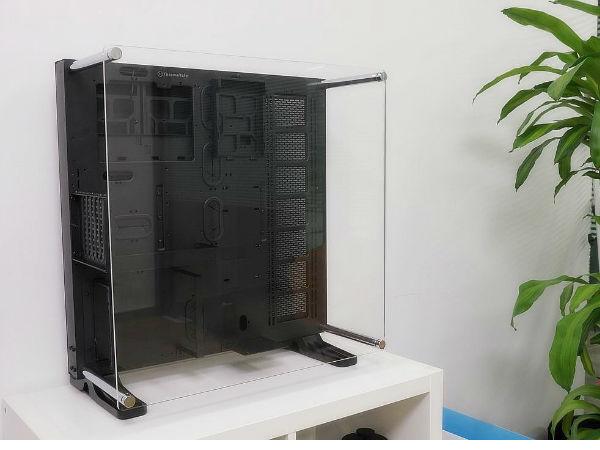 壁挂透视全景机箱 Tt Core P5外观评测