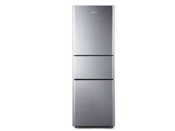简单时尚 海信三门拉丝银冰箱大气之选