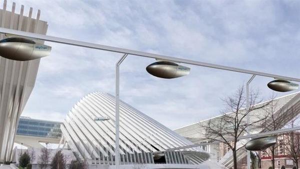 列开始建造空中磁悬浮汽车 不堵车高清图片