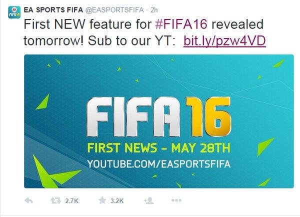 《FIFA 16》正式公布