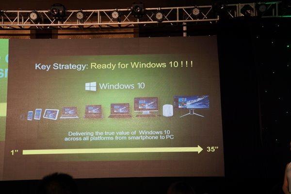Acer宏碁坚决拥抱Win10 ,包括Win10手机