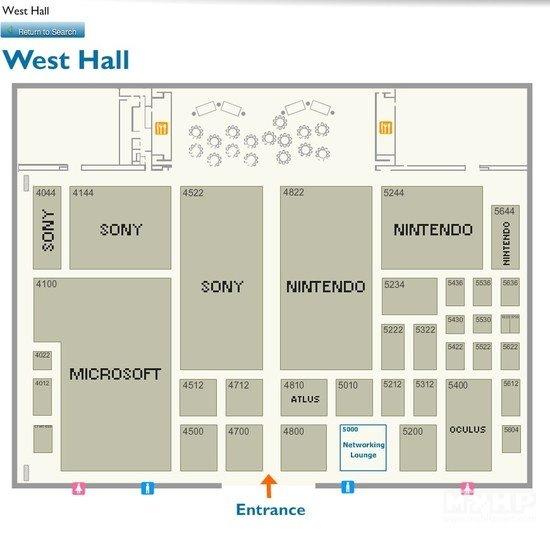 E3 2015展位分布图公布:要被三巨头承包的节奏