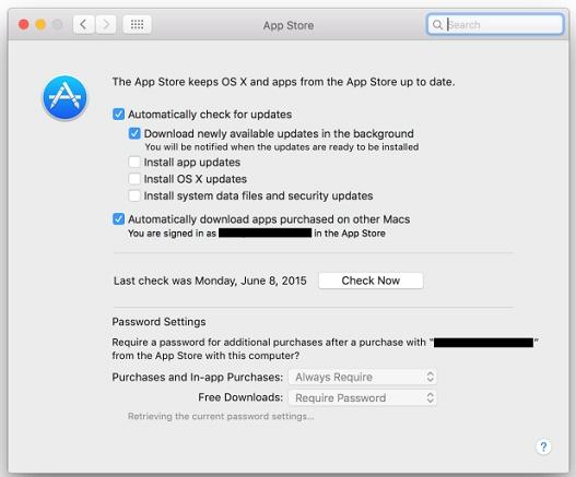 苹果推出新版OS X操作系统中买应用无需密码