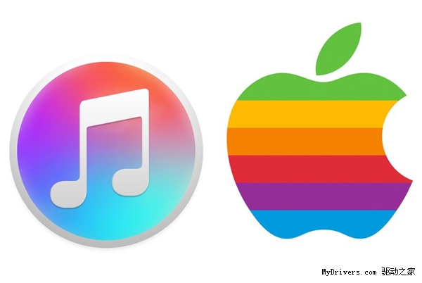 苹果iTunes图标换彩虹渐变色 Music也同款