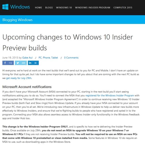 微软承诺预览版用户可自动升级Windows 10