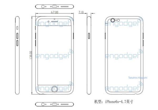 苹果iPhone6s又曝光了:这次是厚度