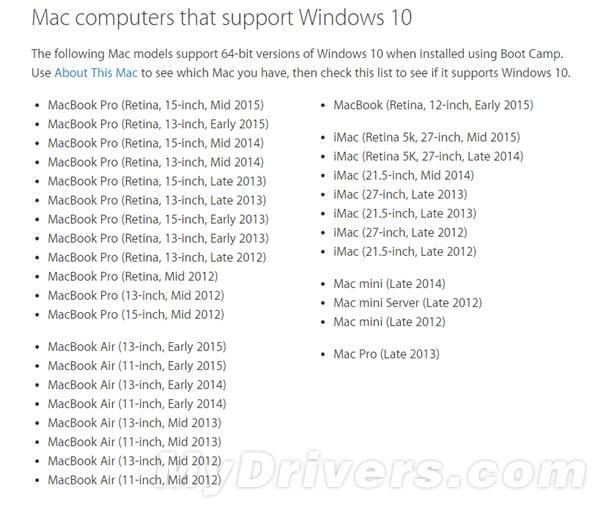 苹果宣布升级Boot Camp 加入Windows 10支持